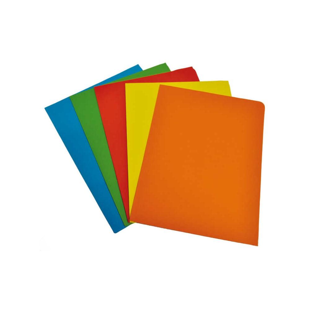 Cartelline tre lembi 10 pezzi Colori Forti