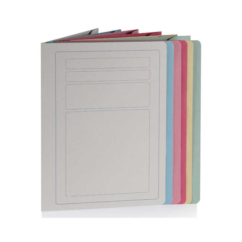 Cartelline tre lembi in manilla con stampa 50 pezzi Colori Standard