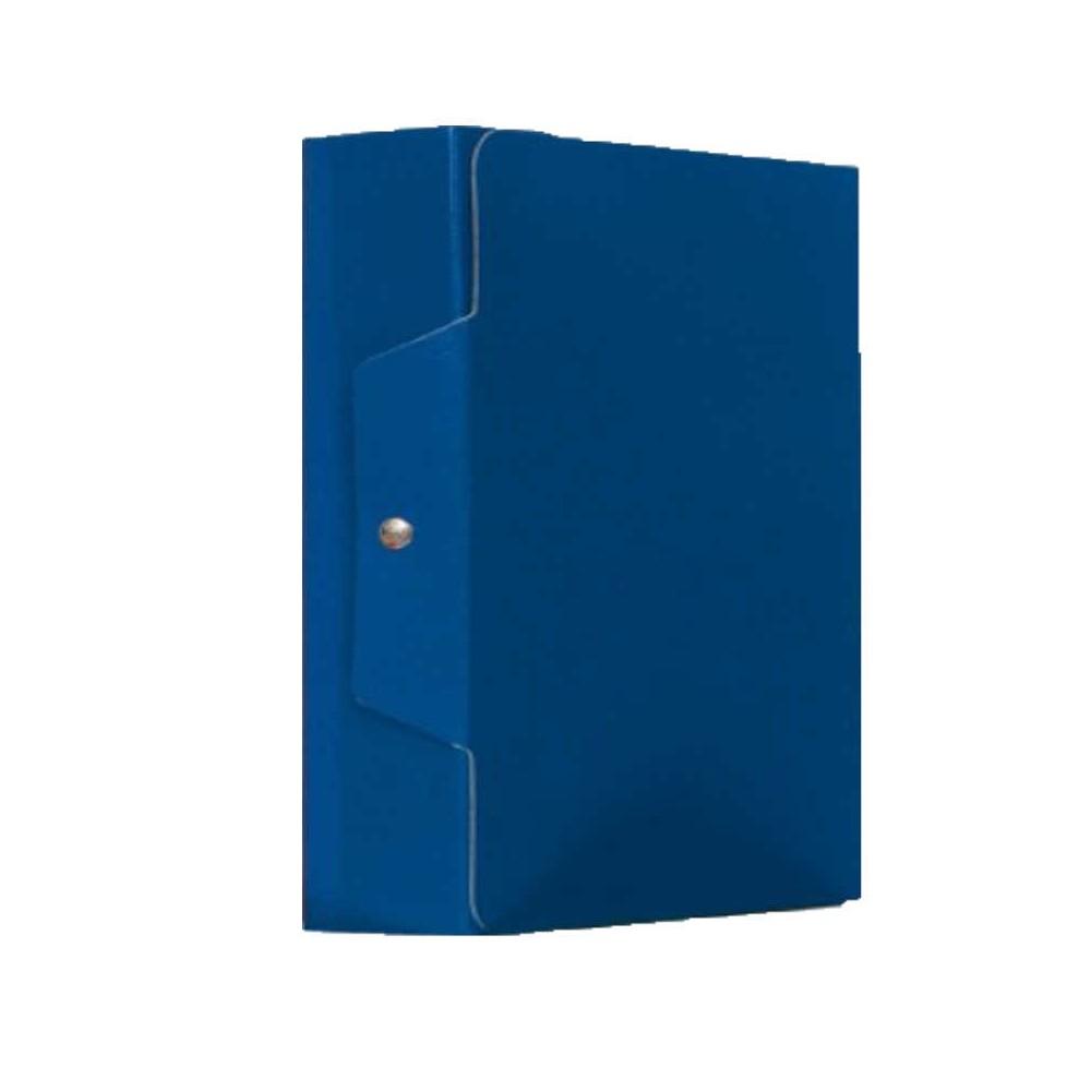 Scatola portaprogetti con bottone dorso 10 BLU
