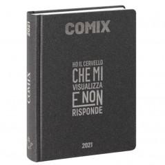 Diario Comix Mignon 16 mesi Grigio Scuro con scritta Oro