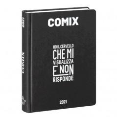 Diario Comix Mignon 16 mesi Nero con scritta Bianca
