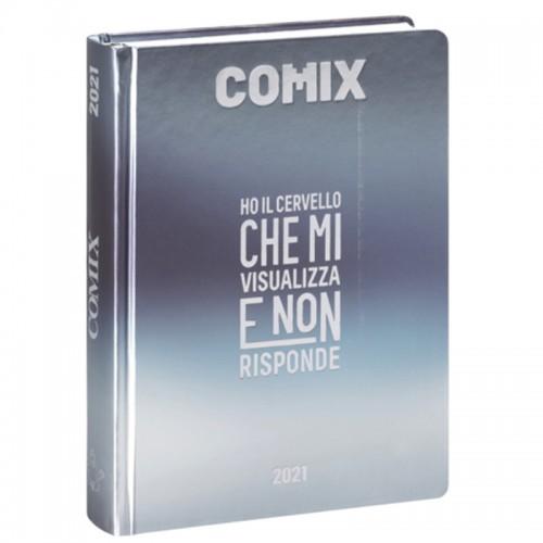 Diario Comix Mini 16 mesi Argento con scritta Argento