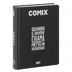 Diario Comix Mini 16 mesi Nero con scritta Argento