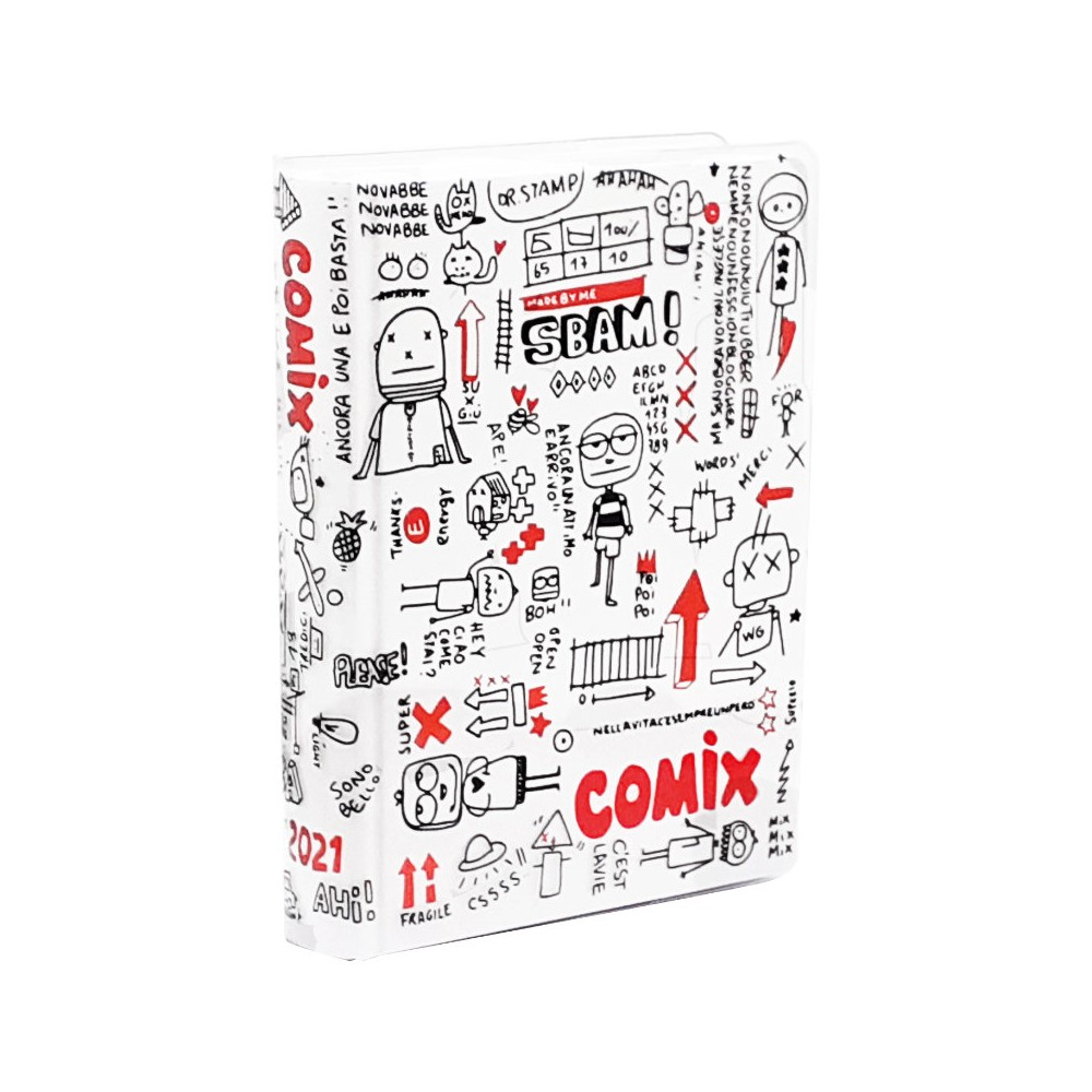 Diario Comix Standard Special 16 mesi Bianca