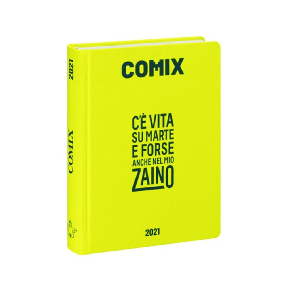 Diario Comix Standardl 16 mesi Giallo Fluo