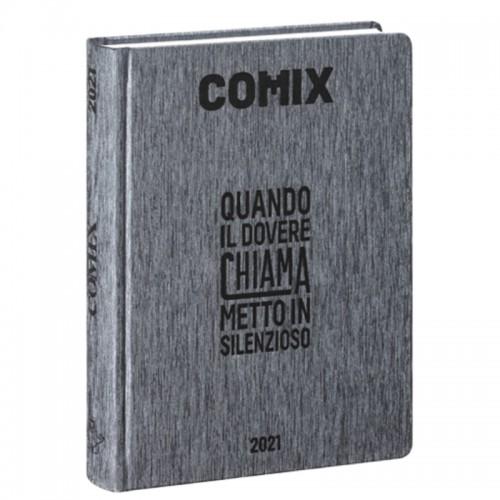 Diario Comix Standardl 16 mesi Grigio Scuro con scritta Nera