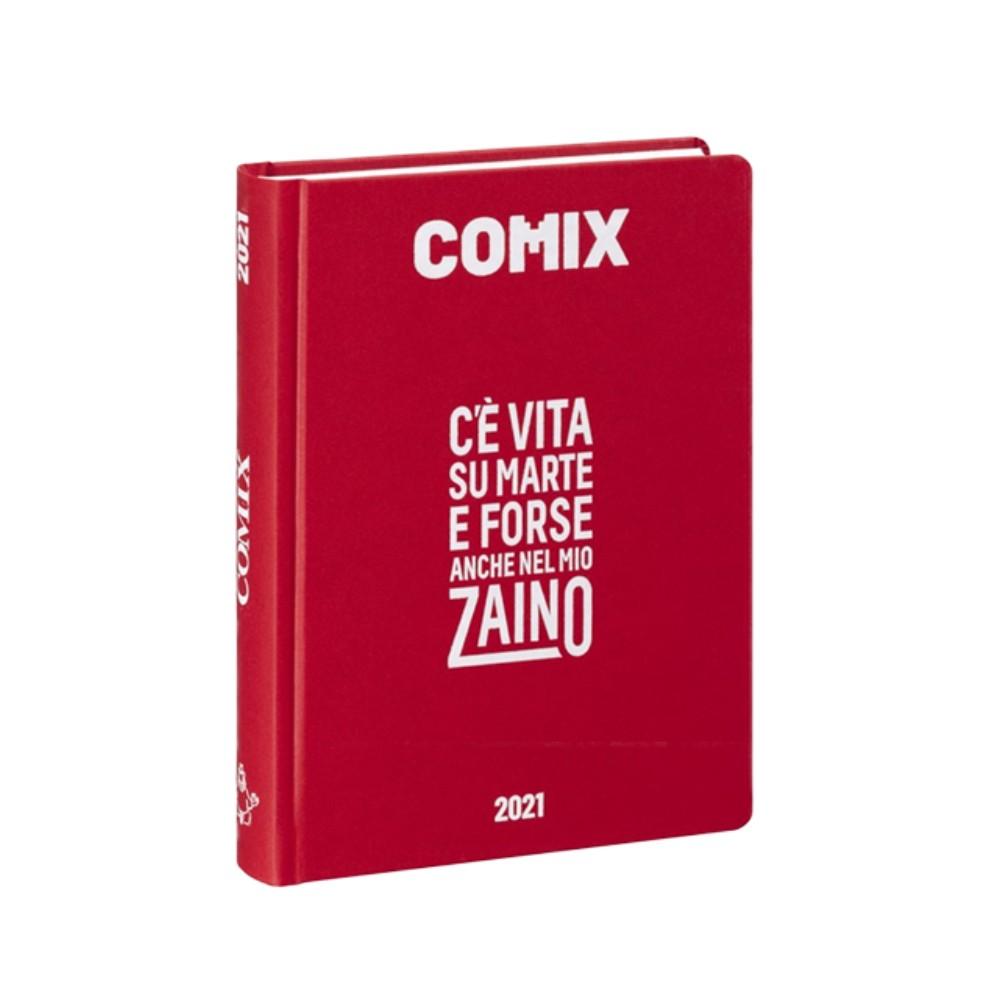 Diario Comix Standardl 16 mesi Rosso